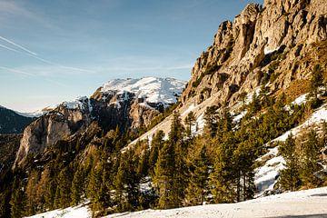 Rotswand in de Dolomieten van MICHEL WETTSTEIN