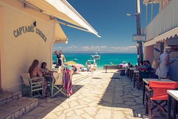 Kapitänsecke in Agios Nikitas, Griechenland von