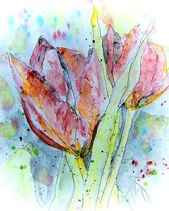 Schilderen met tulp