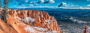 Sneeuw in Bryce Canyon, USA