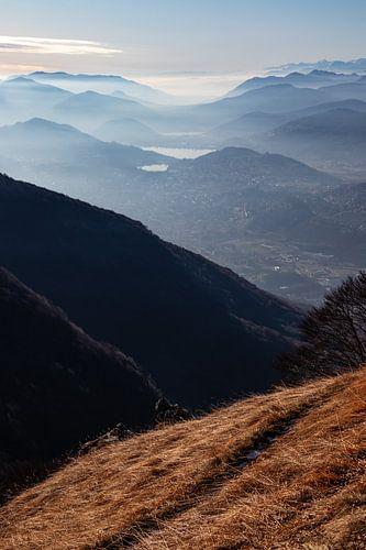 Uitzicht over Lugano - Ticino - Zwitserland van Felina Photography