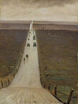 Die Straße von Arras nach Bapaume - 1917 von Atelier Liesjes