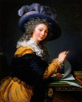 Comtesse de Cérès (Dame qui plie une lettre), Élisabeth Vigée-Le Brun