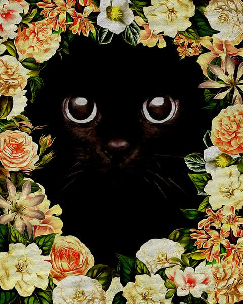 Flower Power Kitten van Jan Keteleer