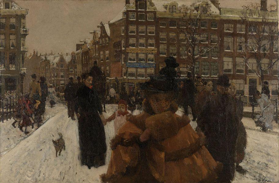 Singelbrug bij Paleisstraat in Amsterdam