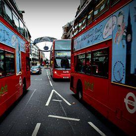 Londen bus van Robin van Maanen