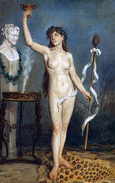 Nackter Bacchant, Joaquín Sorolla (1863 - 1923) von Atelier Liesjes