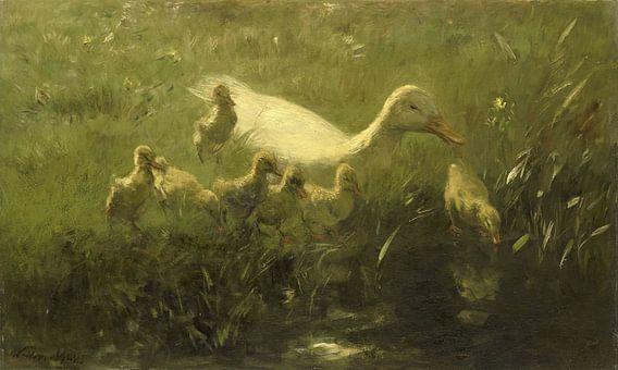 Willem Maris, Witte eend met kiekens