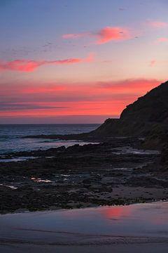 Coucher de soleil Great Ocean Road Australia 2 sur Anouschka Hendriks