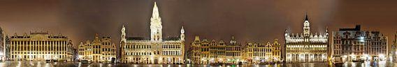 Brussel Grote Markt panorama van Panorama Streetline