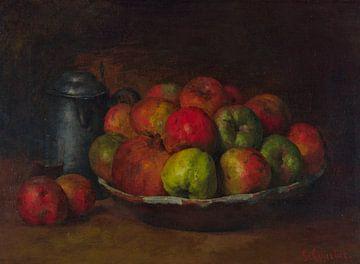 Stilleben mit Äpfeln und einem Granatapfel, Gustave Courbet, 1871 von Atelier Liesjes
