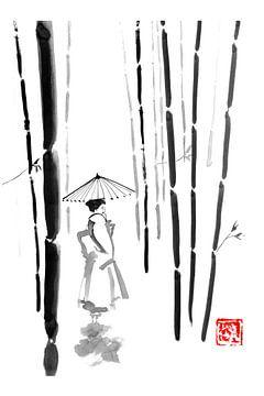 Geisha in den Bambusbäumen von Péchane Sumie