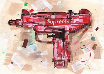 Supreme water gun malerei von Jos Hoppenbrouwers