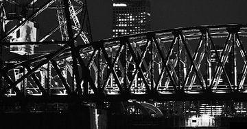 De Hef in der Nacht, Rotterdam von Wouter Springer