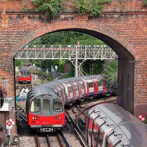 Londen Metro van David Bleeker