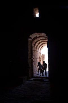Grabhügel in Petra, Jordanien von Kees van Dun