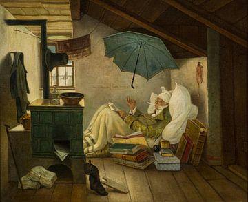 Carl Spitzweg, Der arme Dichter - 1837 von Atelier Liesjes