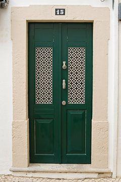 De deuren van Portugal groen met panelen nummer 15 van Stefanie de Boer