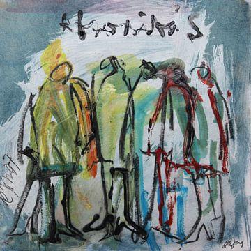 Afroditas, (groep vrouwen, gestalten) von Leo de Jong