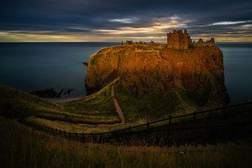 Dunnottar Castle sunset van