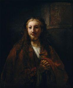 Christus met een Personeel, volger van Rembrandt