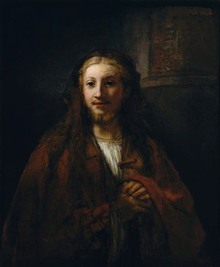 Christus met een Personeel, volger van Rembrandt van Meesterlijcke Meesters
