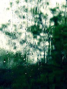 Een Regenachtige Dag - druppels op raam van