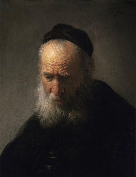 Der Kopf eines alten Mannes, Rembrandt van Rijn von Rembrandt van Rijn