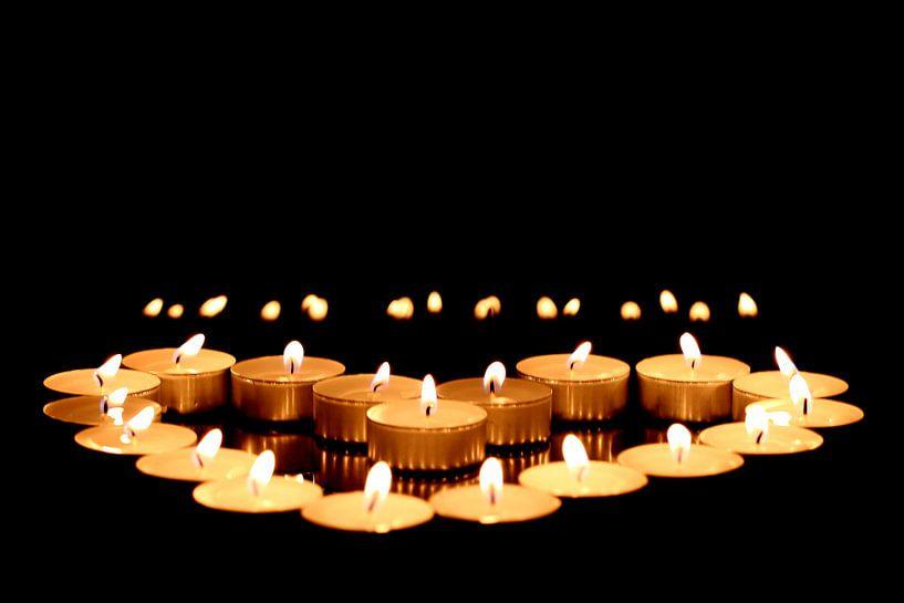 Kerzenherz von Heike Hultsch