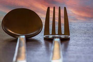 Cuillère et fourchette sur Michael Nägele