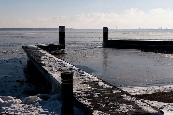 Winterlandschap in Nederland. van Brian Morgan