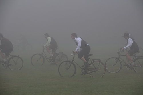 Beierse wieler wedstrijd in de mist