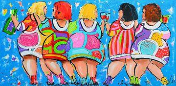 Party Time van Vrolijk Schilderij