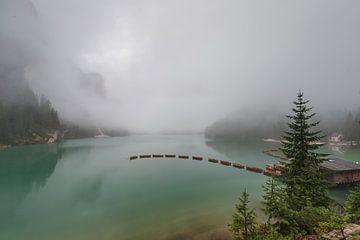 Lago di Braies in de Dolomieten.