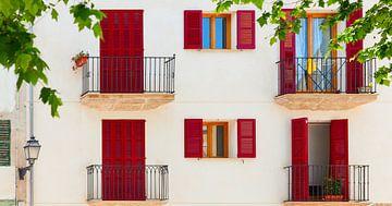 Kleurrijke gevel van huis in Spaanse stijl van Yevgen Belich