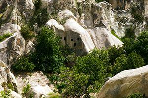 Landschap van Cappadocië van