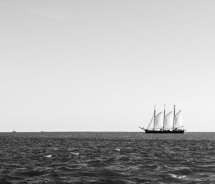 De Driemaster in zwart-wit van Barbara Koppe