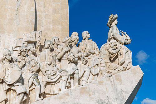 Het monument Padrão dos Descobrimentos in Belém in Lissabon  in Portugal