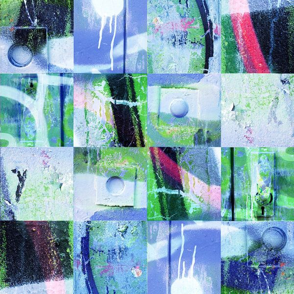 Collage van grafitti