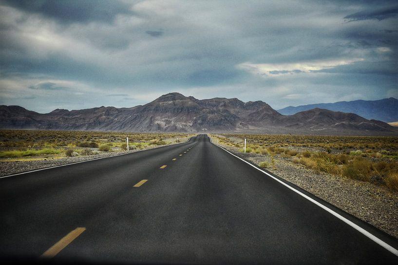 Verlassener Highway in den Vereinigten Staaten ( Roadtrip Highway Route 66) von Bart Schmitz