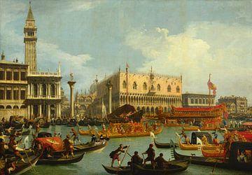 Bucentaurs Rückkehr zum Pier am Palazzo Ducale, Il Canaletto