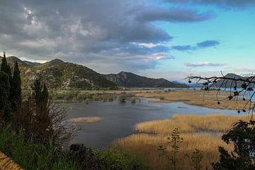 Uitzicht over Skadarsko Jezero van Peter Vlasveld
