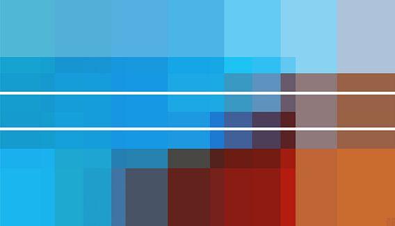 Composition 45 - Color Coded van Daniel Buchner