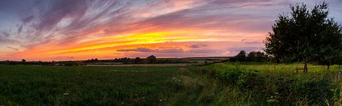 Pastelkleuren aan de horizon