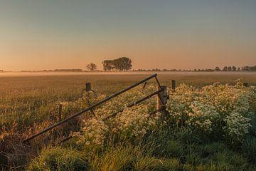 Zaun in Landschaft von Moetwil en van Dijk - Fotografie