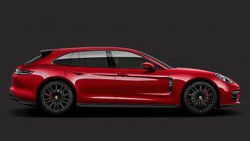 Porsche Panamera, rouge sur Gert Hilbink