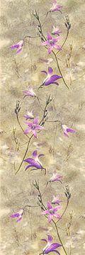 Glockenblume - Collage von Christine Nöhmeier