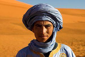 Toeareg in de Sahara bij Erg Chebbi