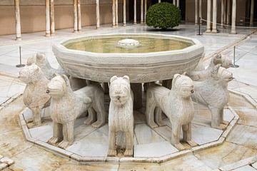 Alhambra - Brunnen mit den Löwen von René Weijers