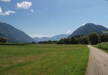 Drauradweg, Drautal, Oostenrijk van Rinke Velds